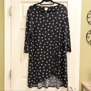Chico's Black Circle Pattern Dress/Tunic - Sz 12